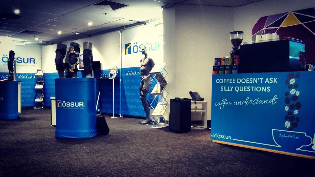 Coffee Trade Stand Marketing Ossur